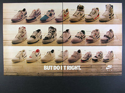 1988 Nike Air Shoes 22 Styles jordan pegasus max force stab vintage print Ad