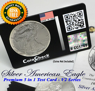 1986 - 2017 Silver Coin Test Eagle Bullion Wallet Size Verification Kit