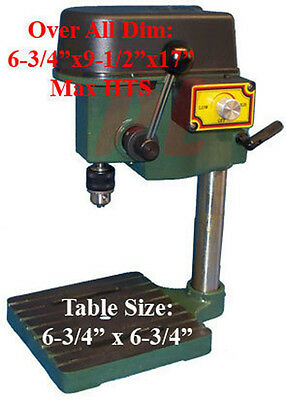 "Mini DRILL PRESS Bench Metal Craft Jewelry Jewelers 3 Speed 8500 RPM 1/4"" Chuck"