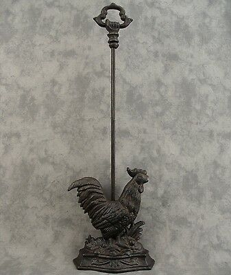 COUNTRY ROOSTER Cast Iron DOOR PORTER DOORSTOP ~DECORATIVE CARRY HANDLE~