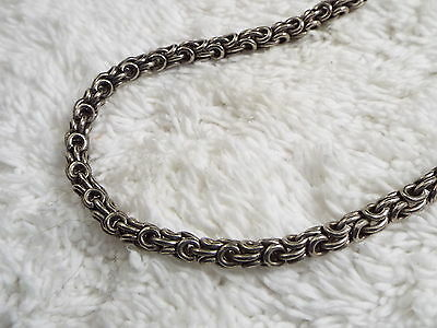 Silvertone Rolled Byzantine Chain Necklace (B36)
