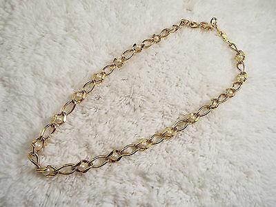 Goldtone Chain Caged Bead Necklace (A33)