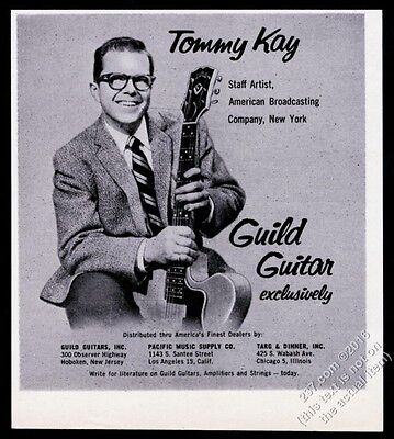 1957 Guild guitar Tommy Kay photo vintage print ad