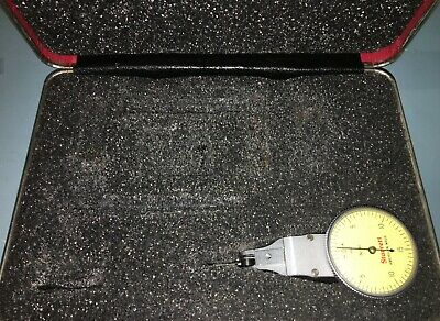 Starrett No.811-5Cz Swivel Head Dial Test Indicator In Case W/Attachments .0005""