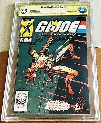 G.i. Joe #21 Cbcs 7.5 Signed By Larry Hama & Jim Shooter (Not Cgc)