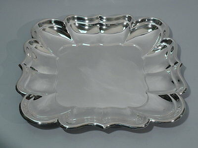 Large 1042 gram Reed Burton Windsor Solid Sterling Silver Hollowware Tray X958S