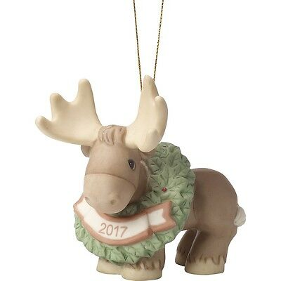 Precious Moments 'Merry Christmoose' Dated 2017 Christmas Ornament 171009