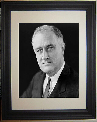 Franklin Delano Roosevelt FDR Portrait Framed & Matted Photo Photograph Picture