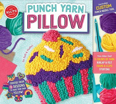 Punch Yarn Pillow - Choose From 8 Designs Make Your Own Kids Klutz Craft Kit