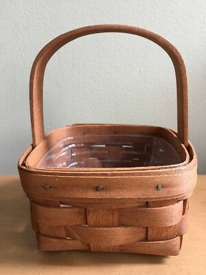 Longaberger 1989 Potpourri Booking Basket & Protector - Classic Stain