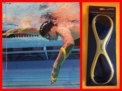 FINIS Forearm Fulcrum Paddles SENIOR (part 1.05.028.50) Yellow NIB