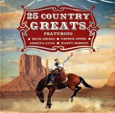 25 Country Greats - Various Artists  (New Sealed Cd)