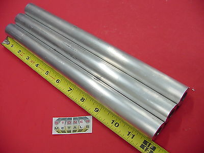 "3 Pieces 1"" OD x 1/4"" Wall 6061 T6 ALUMINUM Round Tube 12"" long 1/2"" ID Seamless"