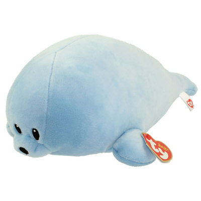 Baby TY - SQUIRT the Blue Seal (Medium Size - 10 inch) - New BabyTy Stuffed Toy