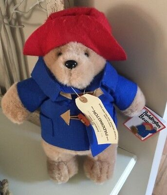 "NEW Vintage PADDINGTON BEAR  Darkest Peru  To London England 12"" w Tag"