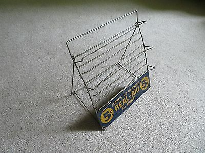 Rare Advertising Soda Drink 5 Cent REAL-AID Store Counter Display Sign Stand