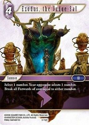 Exodus, the Judge-Sal 	-	3-112H	-	Hero NM Final Fantasy TCG  OPUS 3 iii