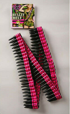 Combat Cutie Plastic Toy Pink And Black Soldier Army Fake Bullet Belt Bandolier