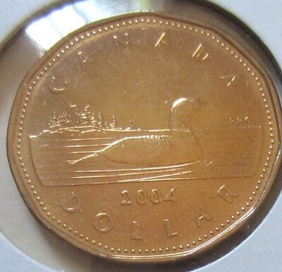 2004 Canada One Dollar Coin. (KEY DATE UNC. Loonie)