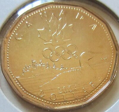2004 Canada Lucky Loonie One Dollar Coin. (UNC.)