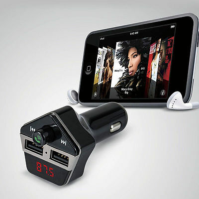Bluetooth Car Kit Mp3 Fm Transmitter Usb Charger Handsfree For Iphone 7 Android