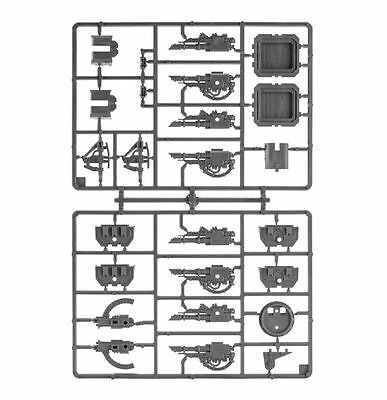 Space Marine LAND RAIDER TANK Weapons Sprue - Lascannons & Heavy Bolters 40K