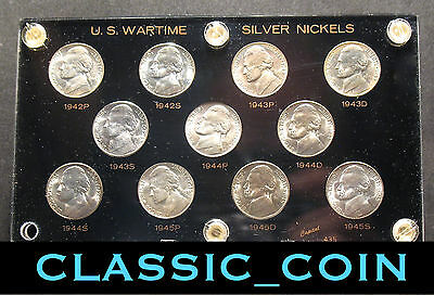 Complete Silver Jefferson War Nickel Set 5¢ Uncirculated 35% Silver Free S/h