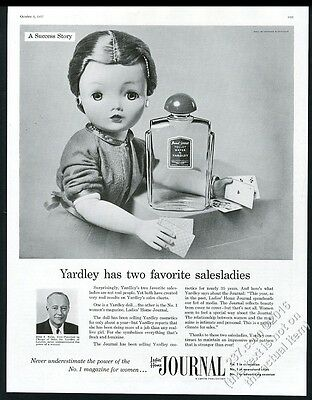 1957 Madame Alexander Cissy doll photo Yardley Bond Street LHJ print ad