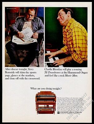 1967 Hammond B3 B-3 organ color photo vintage print ad