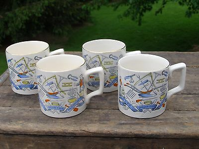 Lot of 4 Farmers Arms B&L England Small Milk Cup Mug God Speed The Plough