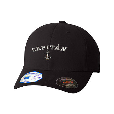 Anchor Spanish Capitan Silver 1 Flexfit® Pro-Formance® Embroidered Cap Hat