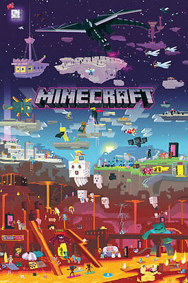 MINECRAFT World Beyond MAXI POSTER SIZE 91.5 x 61cm FP4521