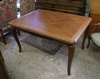 Louis XV Style French Carved Oak Extending Dining Table - (002002)