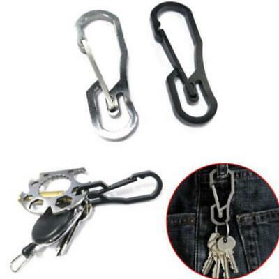 Stainless Steel Buckle Carabiner Keychain Key Ring Clip Hook Outdoor New LA