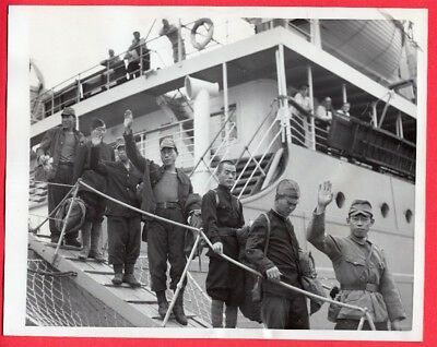 1951 After 6 Years in Russian Labor Camp Japanese POWs Return Home News Photo
