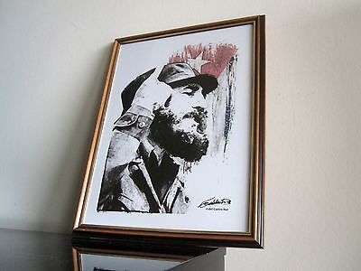 Fidel Castro ArtWork - Kunst - signiert - Portrait - Kuba - Revolutionär limit.