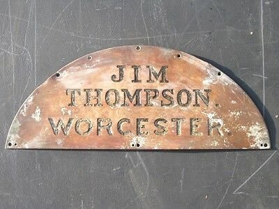 22104 Old Vintage Shop Advert - Bronze Enamel Sign Vicosa Thompson Worcester