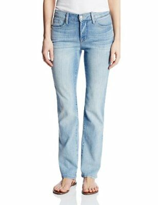 NYDJ Petite Marilyn Straight Jeans In Premium Lightweight Denim Manhattan Beach