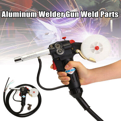 Mig Spool Gun Gas Shielded Welding Lead Push Pull Aluminum Torch With 3M Cable