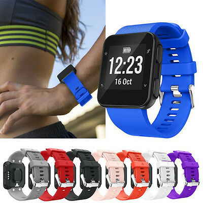 Replacement Wristband Silicone Bracelet Soft Band Strap For Garmin Forerunner 35