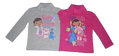 Girls Long Sleeved Polo Top Disney Doc Mcstuffins 2-6 Years 1315