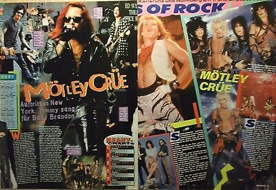 2 german clipping MÖTLEY CRÜE LIVE ROCK BOY HARD METAL BAND GROUP BOYS BOY