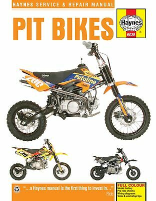 NEW HAYNES WORKSHOP REPAIR MANUAL For pit bikes 110cc -160cc
