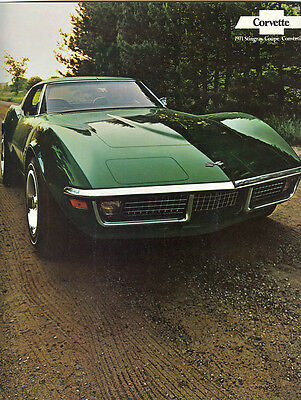 1971 Corvette (NOS) Brochure Stingray Coupe/Convertible