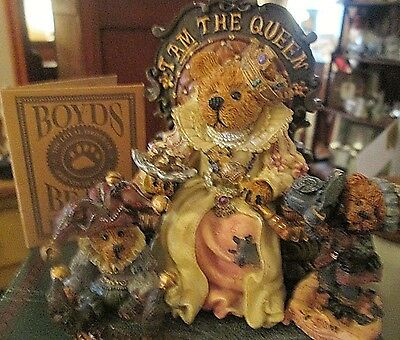 Boyds Bears Bearstone Collection I Am The Queen Nib