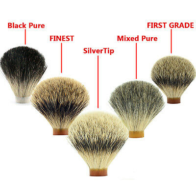 18-30mm Best Silvertip Pure Badger Hair Knot Head DIY For Shaver Shaving Brush