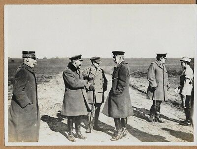 WWI King George & Prince of Wales at Western Front 6x8 Press Photo