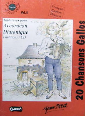 Accordion diatonic Collection of tablatures : 20 songs Gallos