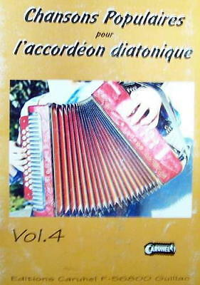 Accordion diatonic Tablatures Songs popular v.4 new with CD