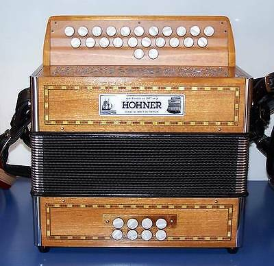 Accordion diatonic Hohner Merlin tone A/D - A / D +. case, straps NEW